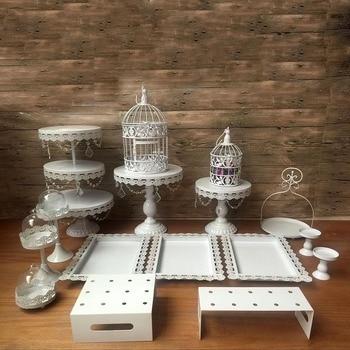 Metal Cake Stan Round Wedding Birthday Party Dessert Cupcake Pedestal Display Plate