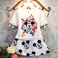 2016 Summer Girls Clothing Sets Minnie Skirt+white Shirt Baby Girl Dress Set for 2-7y Kids Toddler Girl Summer Clothes Sets