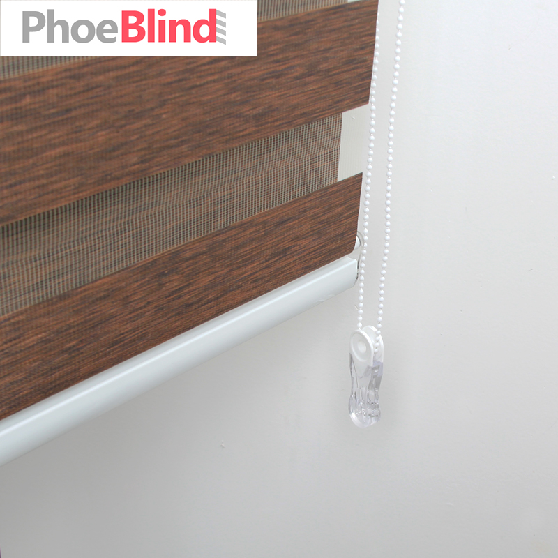 FREE SHIPPING Accept Customer sizes quality luxury white cassette manual zebra roller blinds