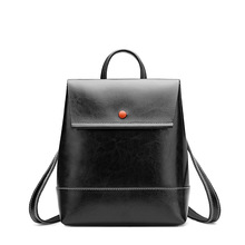 Leather texture vertical multi-color backpack Womens new leather soft fashion one shoulder simple