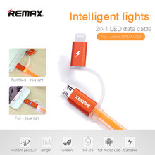 Remax 2 in 1 USB Cable 2.1A Fast Charging Sync Data Charger for iPhone Samsung J5 J7 Huawei LG G6 V30 G5 G7 G4 K10