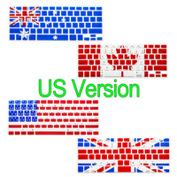 Flag Keyboard Stickers For Apple Macbook Air Pro 13 15 17 And Pro Retian Colors Silicone