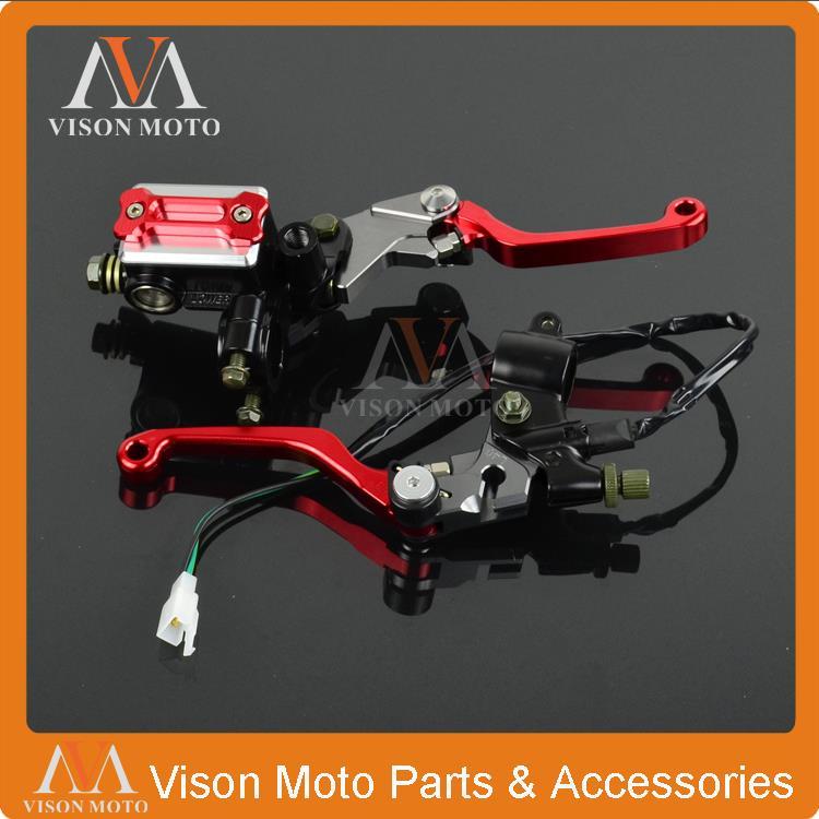 ЧПУ рычаг тормоза главного цилиндра + кабель сцепления окунь для Honda CR85 CRF150R CRF150F CRF230F CRF250L XR250 XR400 МХ эндуро Мотард