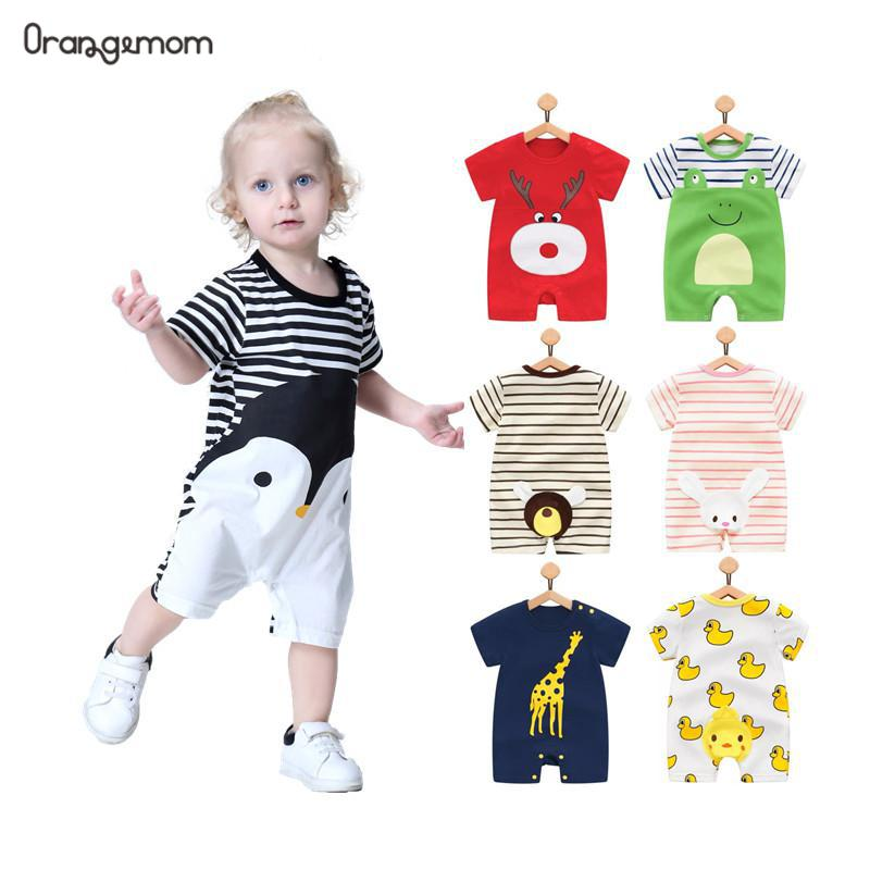 2019 Baby   rompers   summer style duck baby boy clothes newborn girl short sleeve Baby clothes children's Clothes baby clothing
