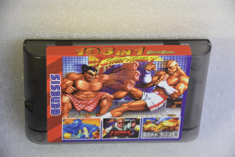 196 in 1 Game Cartridge 16 Bit MD Game Card for Sega Mega Drive for Sega Genesis 9 games can Battery Save