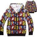 2016 new super avengers hero niños hoodies sudaderas niños de dibujos animados con capucha chaqueta de los niños outwear la ropa del bebé