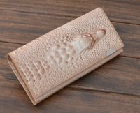 Promotion High Quality Women Long Genuine Leather Wallet Crocodile Wallet Small Cluch Leather Bag Cowhide Purse
