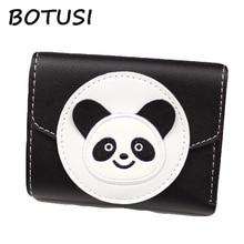 BOTUSI Handwork Panda Women Small Wallet and Purses Fashion Wallet Trendy Coin Purse Card Holder Leather Female Purse Clutch недорого