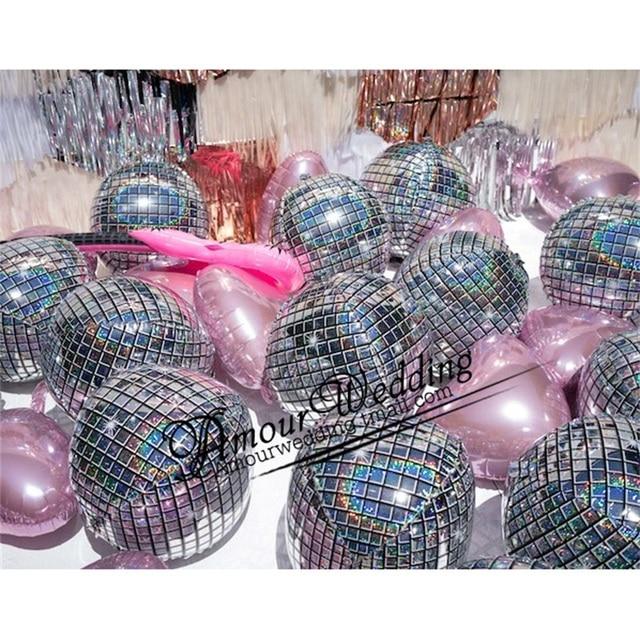 20pcs 22inch 4D Disco Metalic balloons laser Foil balloon Wedding Decor 80s 90s Retro Popular Party Decor Rock and Roll Looks