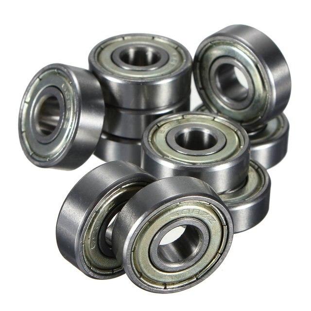 10 unids. rodamientos de bolas miniatura rodamientos rígidos de bolas 608 ZZ 8x22x7mm Rodamiento de Acero