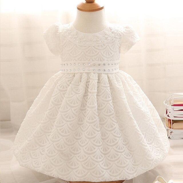 Baby Girl Dress 1 Year Girl Baby Birthday Dress Newborn White ...
