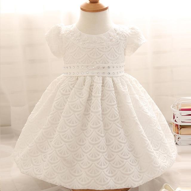 d4a00aaf3 Vestido de bebé niña 1 año niña bebé cumpleaños vestido recién nacido  blanco bautizo vestido bebé