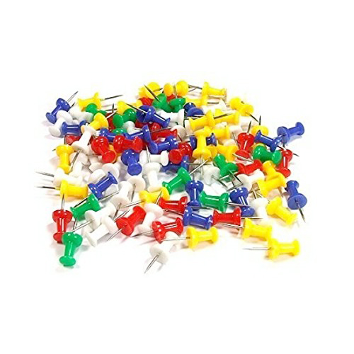 40 Pcs Assorted Coloured Push Pins
