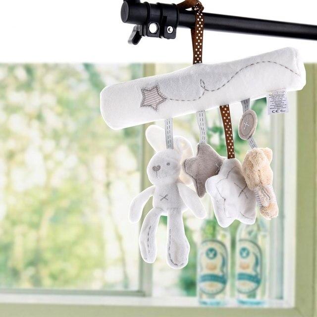 Bearoom детские погремушки, милая игрушка для коляски, музыкальные мобильные детские игрушки, Колокольчик для рук, кролик, Музыкальная кукла, Колокольчик для детской коляски