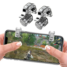 Metal Gamepad Mobile Gaming Trigger for PUBG Mobile Gamepad Fire Button Aim Key L1 R1 Shooter Pubg Controller for Iphone Android mobile phone holder metal smart gaming trigger for pubg mobile gamepad for iphone x fire button aim key l1r1 shooter controller