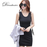 Slim Modal Long Tank Tops Women Solid Multi 16 Candy Color Tee Shirts Dress Summer U