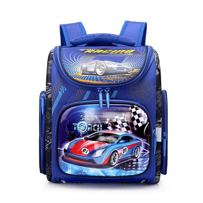 6b5af0e35c76 Детские сумки для мальчиков школьные сумки ортопедические 3D мультфильм  гоночный автомобильный Рюкзак Детские школьные рюкзаки класс 1-5 ст.