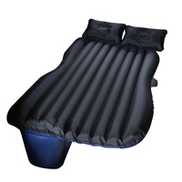 Car Travel Inflatable Mattress Bed Travelling Camping Back Seat Oxford Fabric Extended Mattress and Two Pillows(Black)