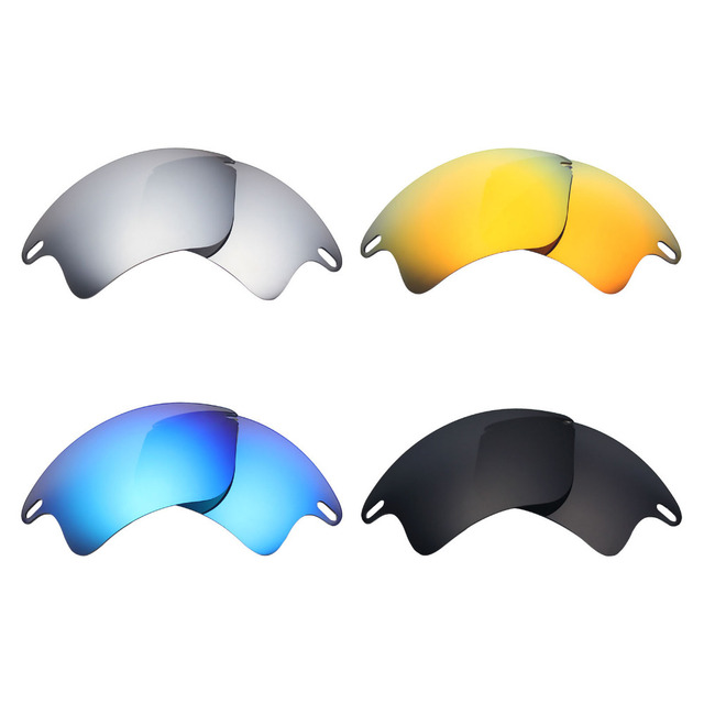 b47d2f8315 4 Pairs Mryok POLARIZED Replacement Lenses for Oakley Fast Jacket XL  Sunglasses Stealth Black   Ice Blue   Fire Red   Silver