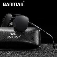 BANMAR DESIGN Men Classic Square Sunglasses Polarized Fashion Sun glasses For Driving UV400 Protection