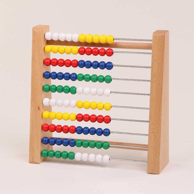 Logwood деревянные abacus детские математические игрушки бусины цвета радуги классические счеты Monterssori деревянные игрушки Раннее развитие развивающие