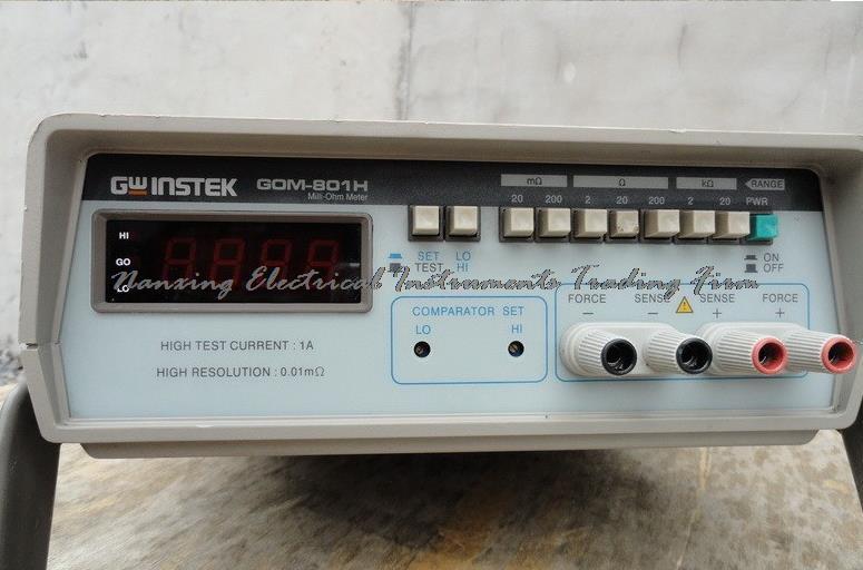 Arrivée rapide Gwinstek GOM-801H DC micro-ohmmètre Gwinstek testeur de résistance à faible courant continu