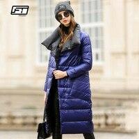 Fitaylor Women Down Jacket Long Coat Winter Warm Double Sided Ultra Light White Duck Down Parka Female Plus Size Snow Outwear
