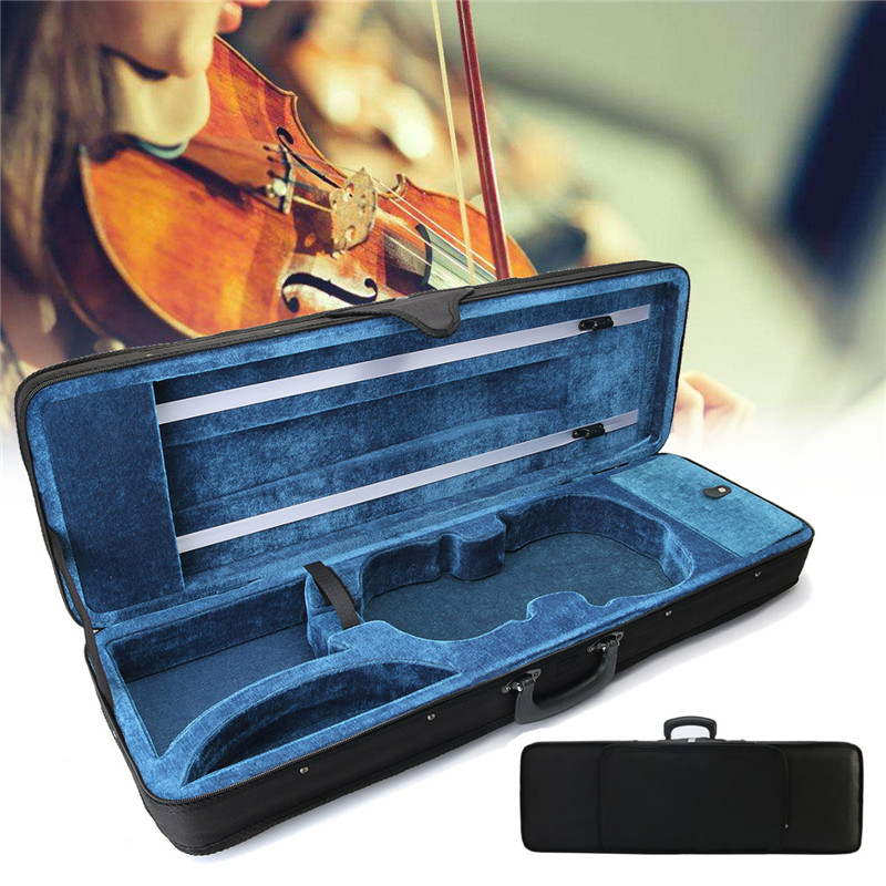 Zebra 4/4 Acoustic Violin Case Fiddle Box Cover For Violin Stringed Instruments Parts Accessories