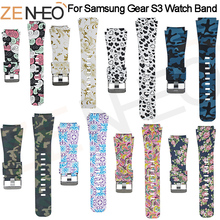 Watchbands For Samsung Gear S3 Frontier Bracelet printing 22mm Sports Silicone wristband replacement watch Strap watches band цена 2017