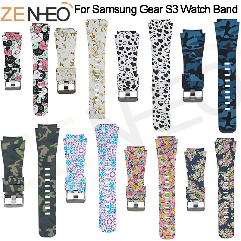 Watchbands printing 22mm luxury brand New Fashion Sports Silicone Bracelet Strap Band For Samsung Gear S3 Frontier 2018 Hot SaleWatchbands printing 22mm luxury brand New Fashion Sports Silicone Bracelet Strap Band For Samsung Gear S3 Frontier 2018 Hot Sale