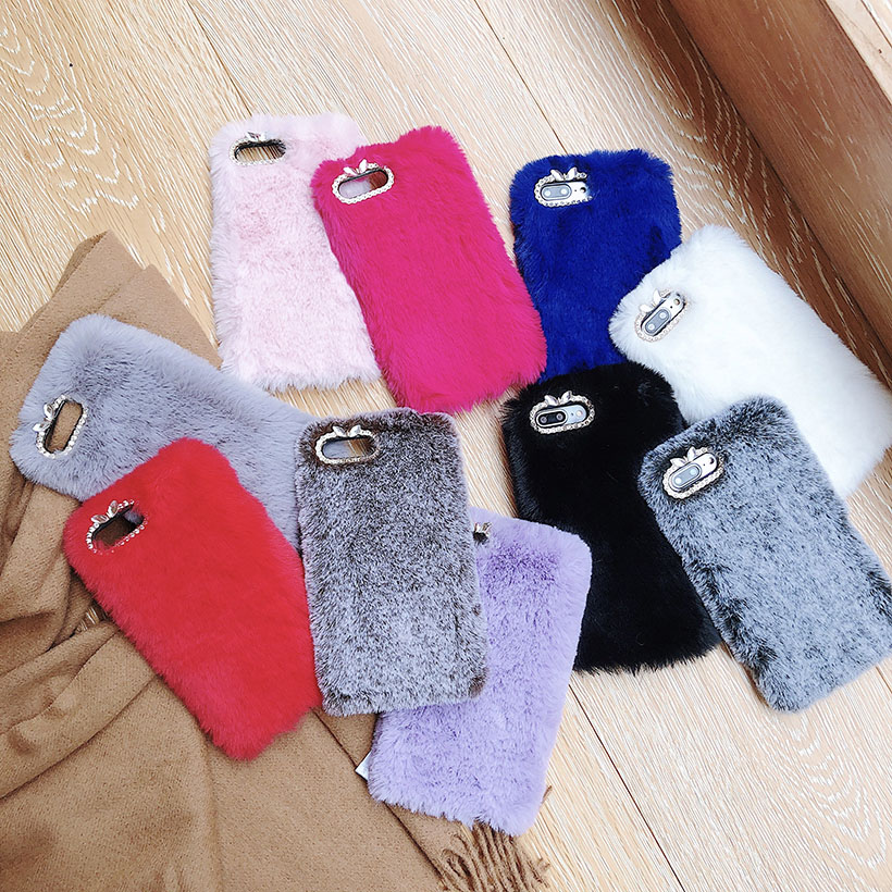 Warm Fur Cases For Samsung S9 Plus S8 S7 S6 Edge S5 S4 Galaxy Note 9 8 5 4 3 1 Pro S10 Lite S10E Cover Colorful Warm Housing image
