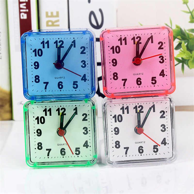 1 MÁY TÍNH Vuông Nhỏ đồng hồ báo thức dễ thương sáng tạo học sinh thời trang đồng hồ phòng ngủ ngủ văn phòng đồng hồ điện tử