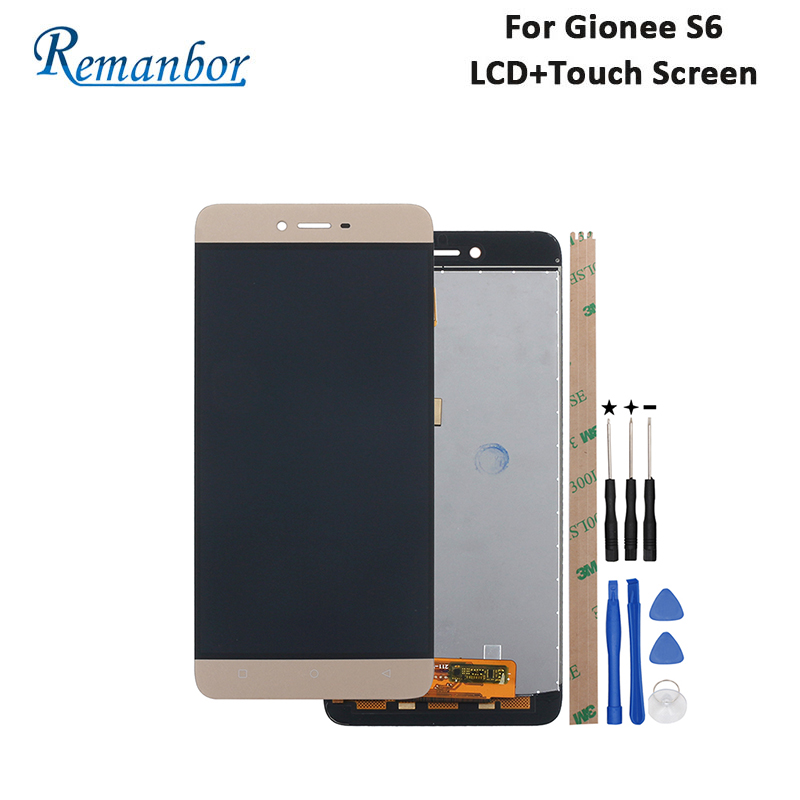 Remanbor For Gionee S6 LCD Display And Touch Screen 5.5 Inch New Tested Repair Parts For Gionee S6 Digital Accessory +ToolsRemanbor For Gionee S6 LCD Display And Touch Screen 5.5 Inch New Tested Repair Parts For Gionee S6 Digital Accessory +Tools
