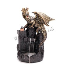 Creative Fly Dragon Incense Burner Bunker Smoke Waterfall Incense Burner Incense Cone Sticks Holder Use In Home Office Teahouse контактные линзы johnson