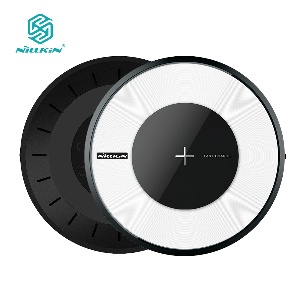 [Qi Wireless Charger 10W] Nillkin light fast Wireless Charger Charging Pad for Samsung Galaxy S8  Note 8 for iPhone X 8 8Plus