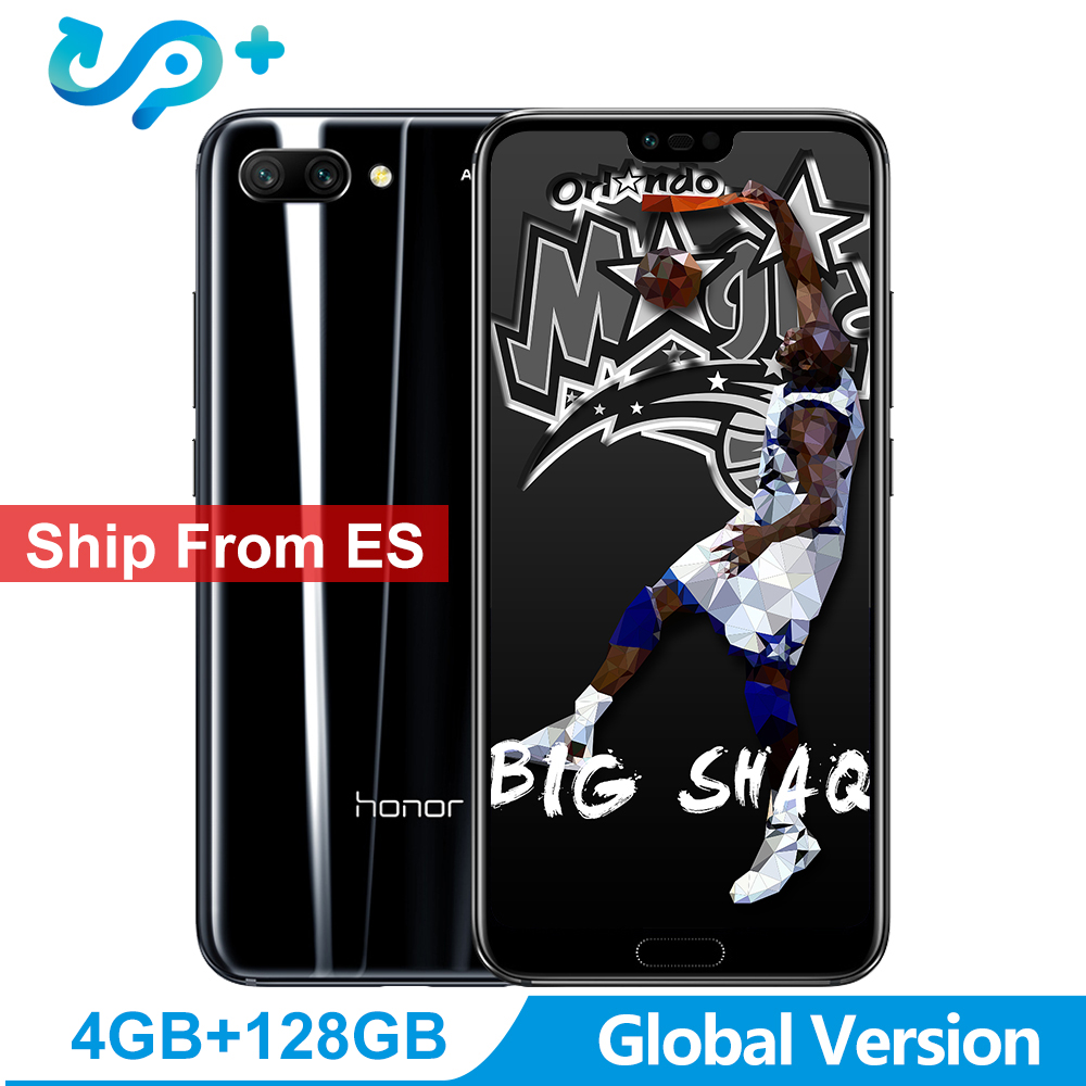 """Ship from ES Huawei Honor 10 Global Version 4GB 128GB SmartPhone NFC Mobile Phone Android 8.1 5.8"""" 4*Camera 24MP 3400mAh"""
