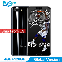 Ship from ES Huawei Honor 10 Global Version 4GB 128GB SmartPhone NFC Mobile Phone Android 8.1 5.8 4*Camera 24MP 3400mAh