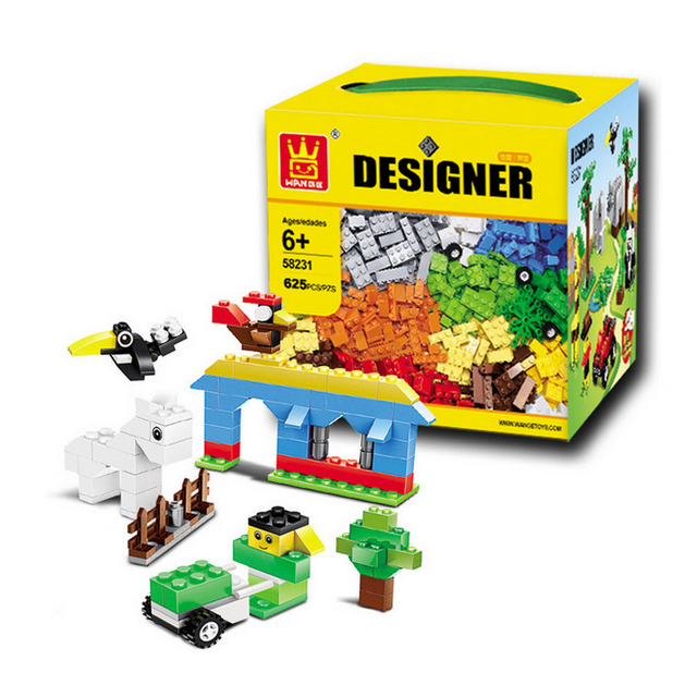 Wange 58231 classic diy 625 unids creativo caja de bloques de construcción juguetes de los ladrillos de construcción juguetes juego compatiable con el regalo