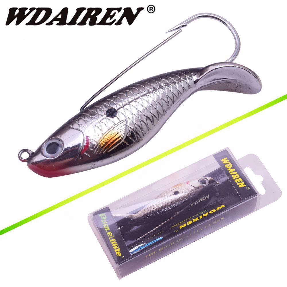 WDAIREN 1Pcs Fishing Lure 8cm 21.4g Anti Grass Fishing Wobbler Artificial Bait Hard Lures Laser Body Lifelike Fish Tackle WD-527 wdairen 1pcs laser plastic 3d eye 11cm 11 7g hard lures fishing baits crank bait wobblers plug freshwater fish lure fa 322