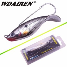 WDAIREN 1Pcs Fishing Lure 8cm 21.4g Anti Grass Fishing Wobbler Artificial Bait Hard Lures Laser Body Lifelike Fish Tackle WD-527