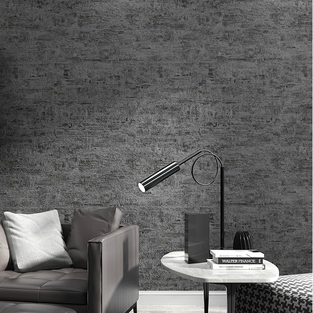 Neutral Concrete Cement Textured Industrial Wallpaper
