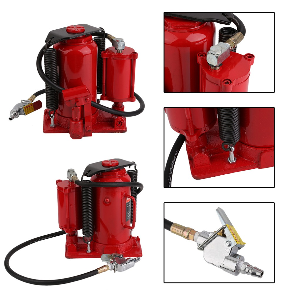 Heavy Duty Car Auto Truck Repair Lift 20 Ton Vertical Hydraulic Pneumatic And Manual Dual-Purpose Jack Car Tools J20C21 hollow hydraulic jack rch 2050 multi purpose hydraulic lifting and maintenance tools 20t hydraulic jack 1pc