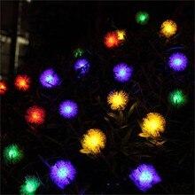 LED Solar Lights for Garden Decoration 5/7/12M lighting string 100 LEDs Snowball Globe Balls Lamps Energy Outdoor Light