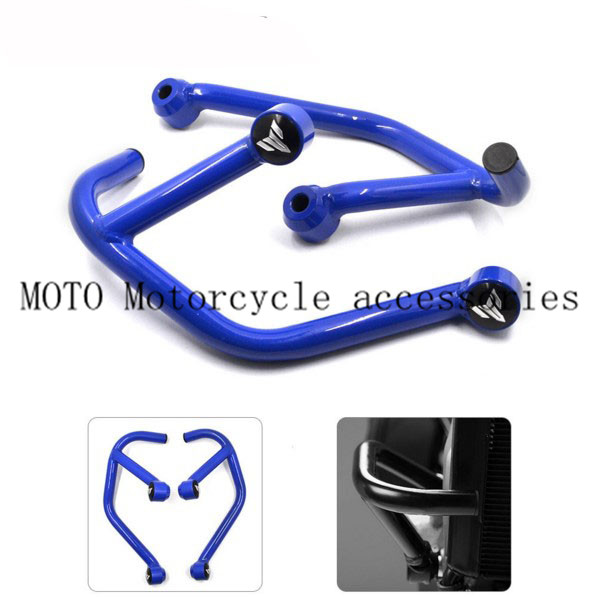 High Quality Motorcycle Engine Guard Crash Bars Frame Protector Bumper For Yamaha MT09 MT-09 FZ09 FZ-09 2013-2016 Motor Bumpers high quality for bmw r1200gs 2013 2014 2015 motorcycle upper engine guard highway crash bar protector silver