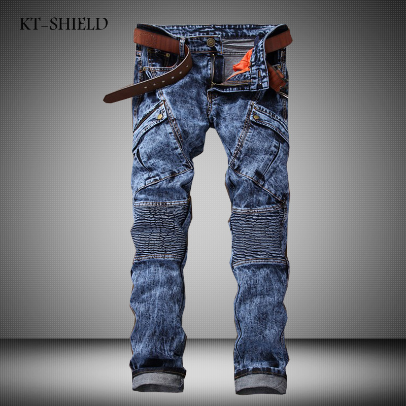ФОТО Men Vintage Biker Jeans Mens Brand Calca Jeans Masculina High Quality Skinny Denim Overalls Mens Pants Brand Clothing Plus Size