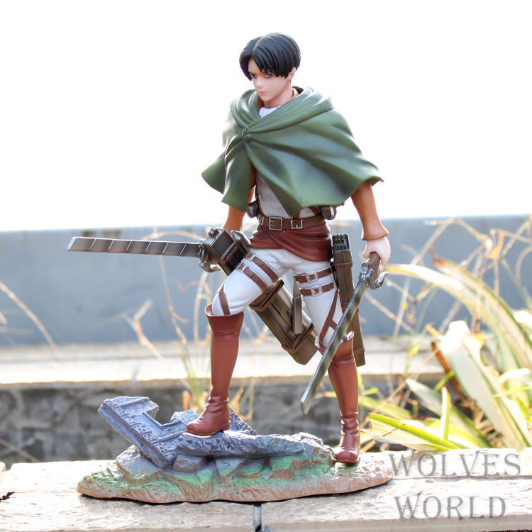 Free Shipping Anime Attack on Titan Rivaille PVC Action Figure Collection Model Toy 20CM ATFG052 attack on titan anime 17 cm mikasa ackerman battle version pvc anime figure collection doll model toy kids toys pm scene tw18