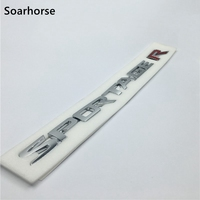 Soarhorse 3D Sportage R Lettere Logo Car Rear Trunk Lid Emblem Badge Sticker Per Kia Sportage Accessori Decalcomania
