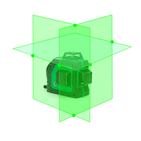 New Leter 3d Self Leveling Green Laser Level 360 Degree 12 Lines
