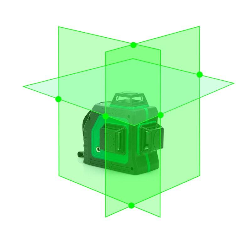 Nouvelle Lettre 3d Auto-nivelant Vert Niveau Laser 360 Degrés 12 Lignes