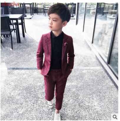 Autumn Kids Blazer Baby Boys Suit Jackets Spring Cotton Coat Pants 2 Piece  Boy Suits Formal For Wedding Chlidren Clothing Suits  - AliExpress